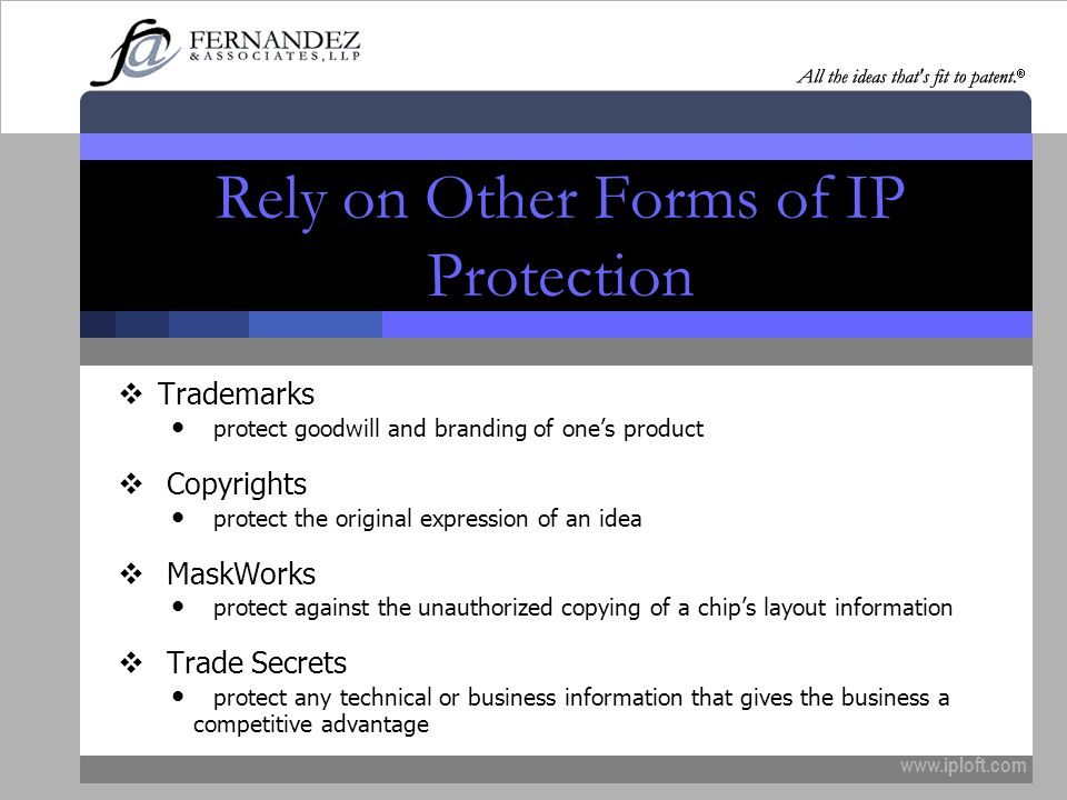 Rely on Other Forms of IP Protection