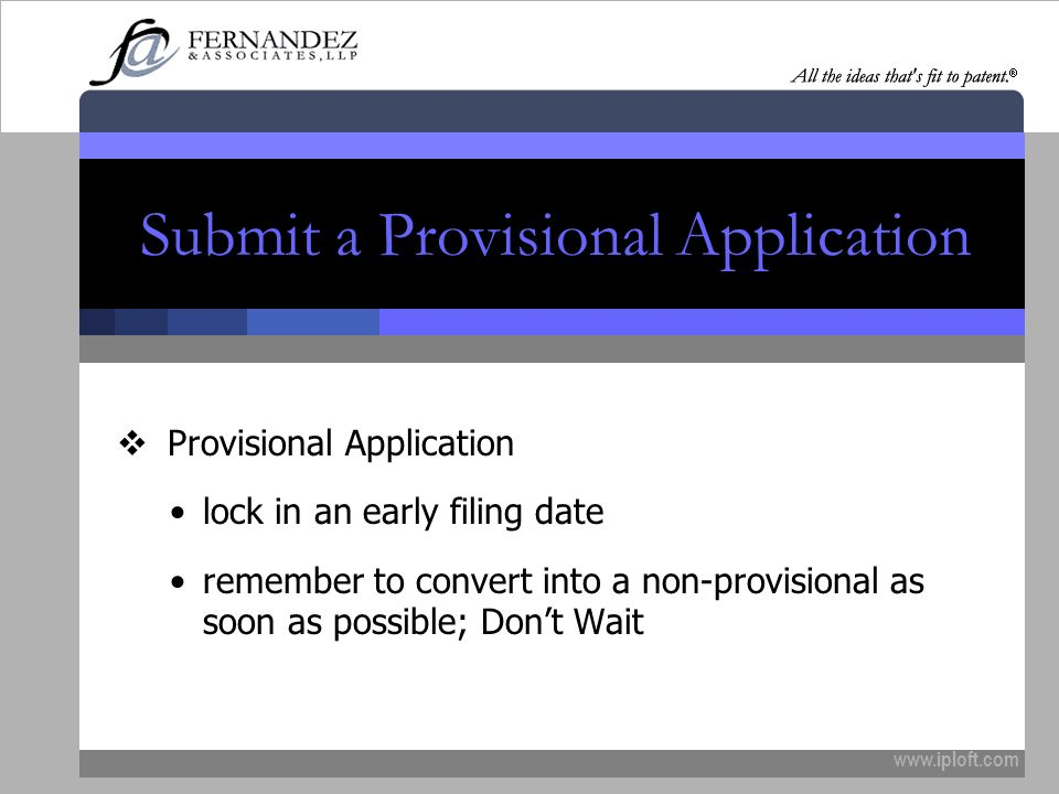 Submit a Provisional Application