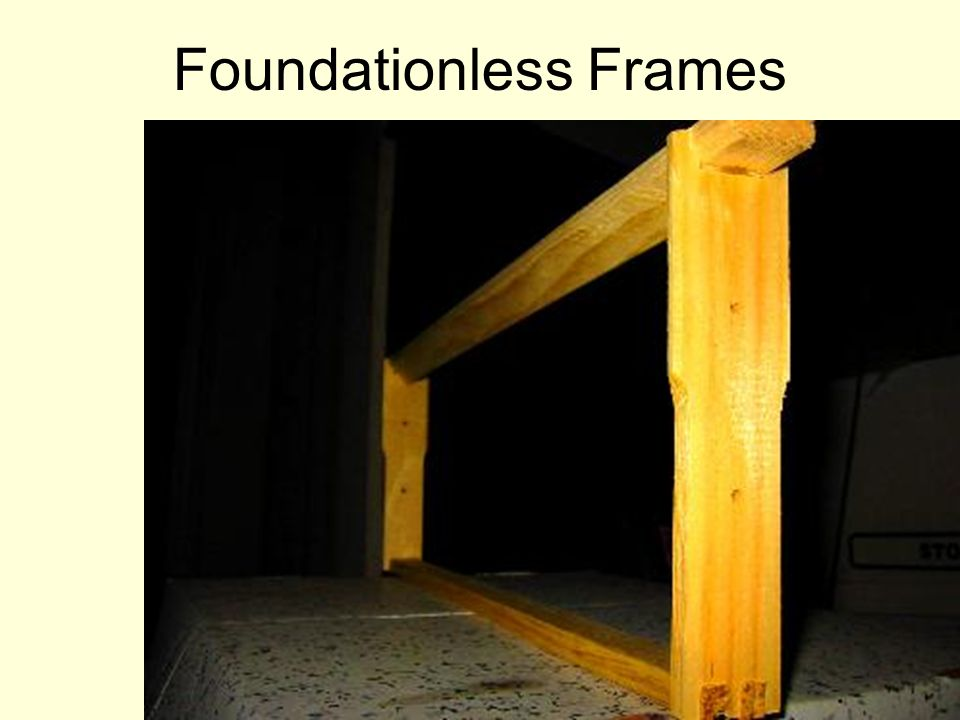 Foundationless Frames
