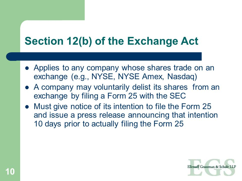 Section 12(b) of the Exchange Act
