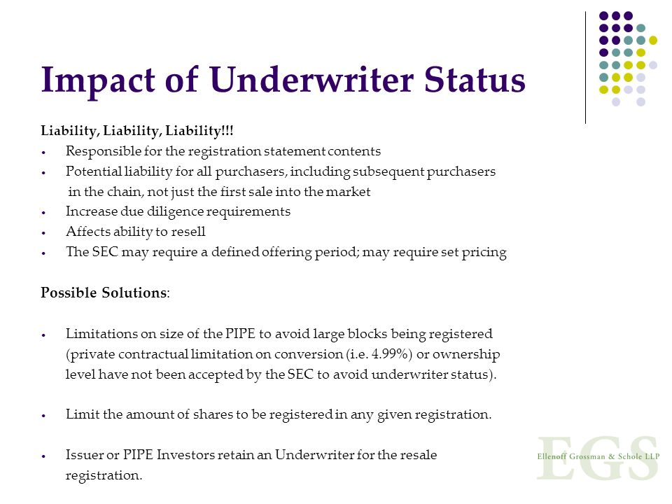 Impact of Underwriter Status