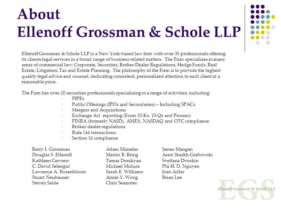 About Ellenoff Grossman & Schole LLP