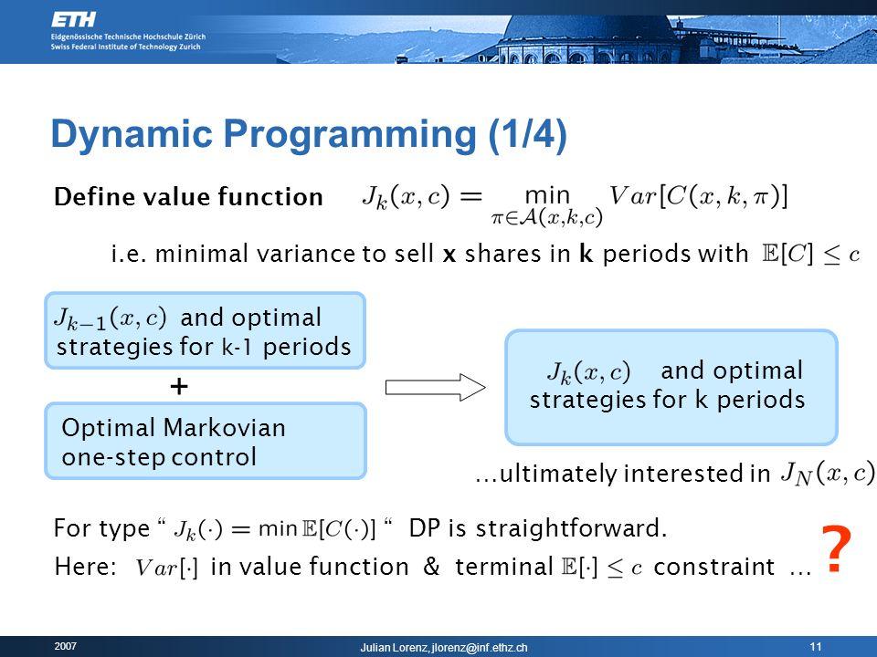 Dynamic Programming (1/4)
