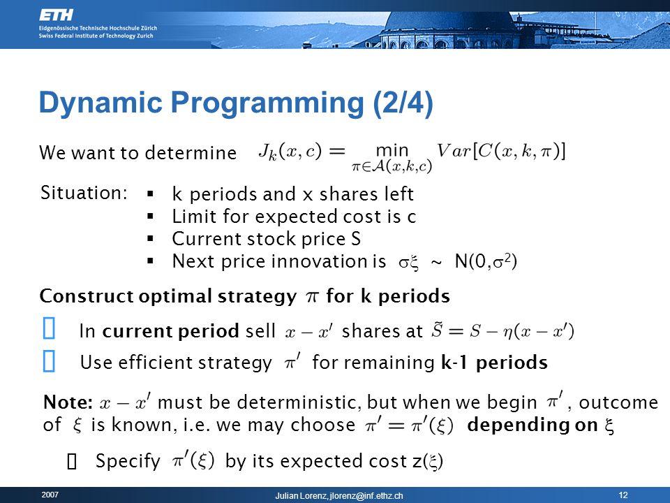 Dynamic Programming (2/4)