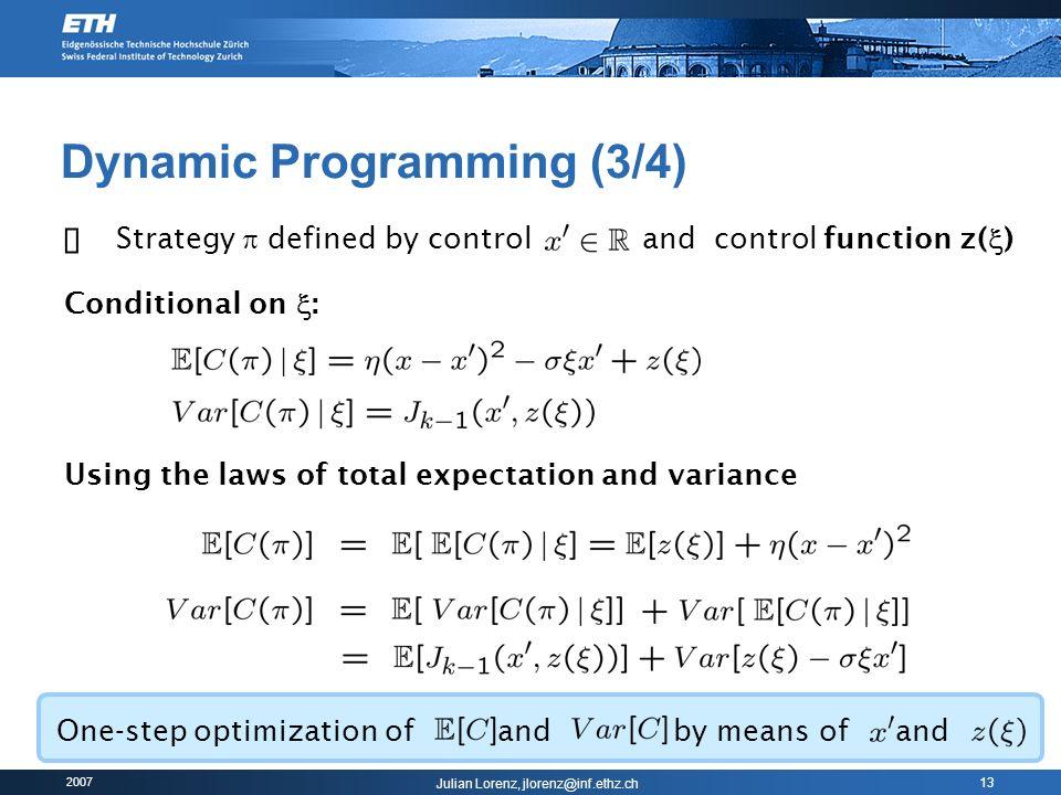 Dynamic Programming (3/4)