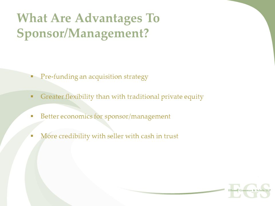 What Are Advantages To Sponsor/Management