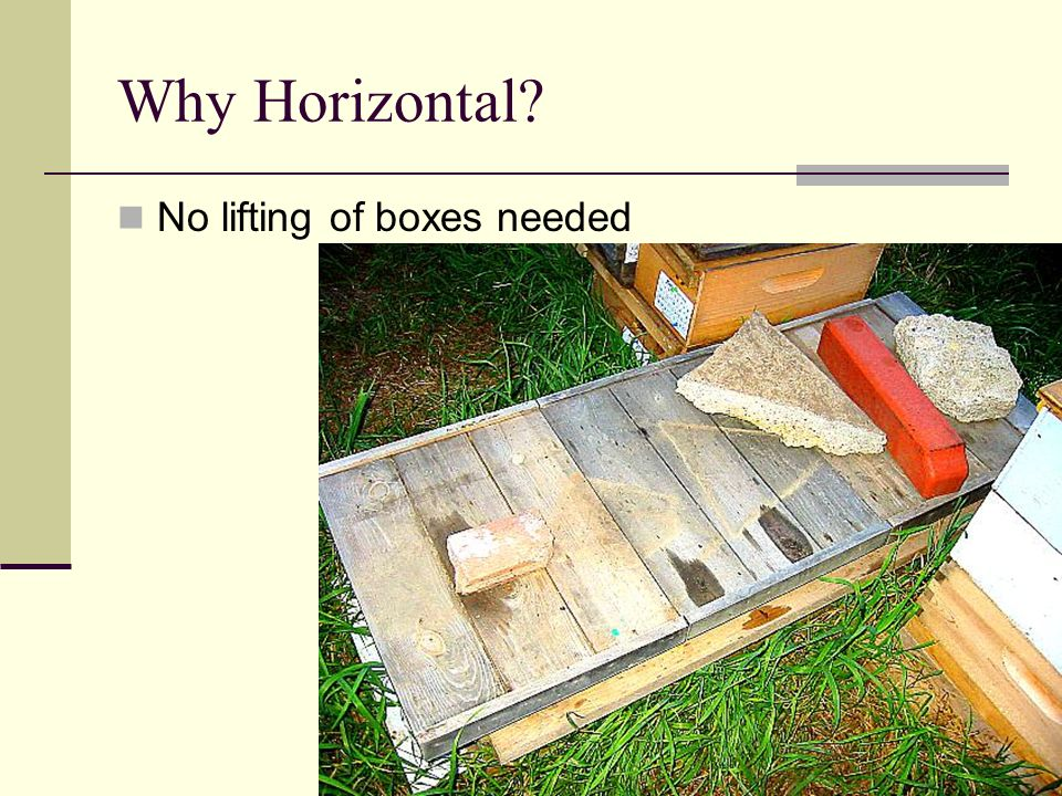 Why Horizontal No lifting of boxes needed