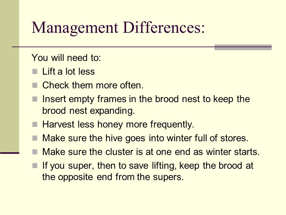Management Differences: