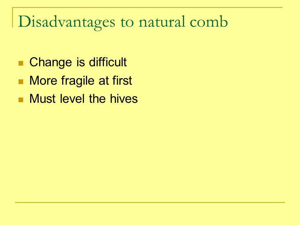 Disadvantages to natural comb