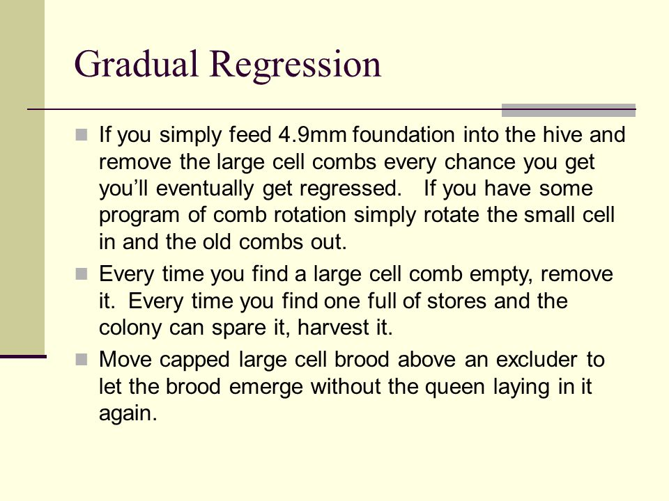 Gradual Regression