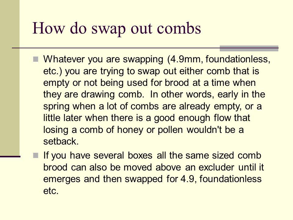 How do swap out combs
