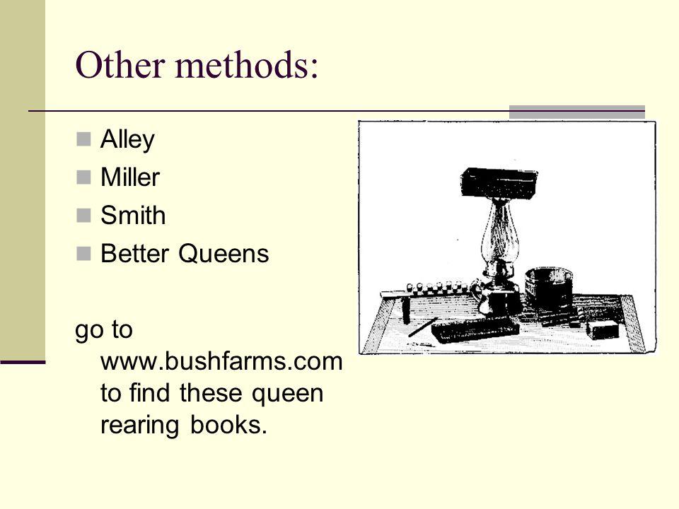 Other methods: Alley Miller Smith Better Queens