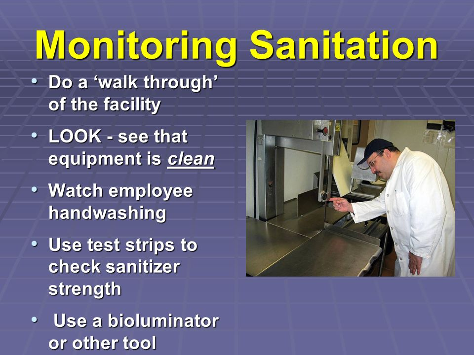Monitoring Sanitation