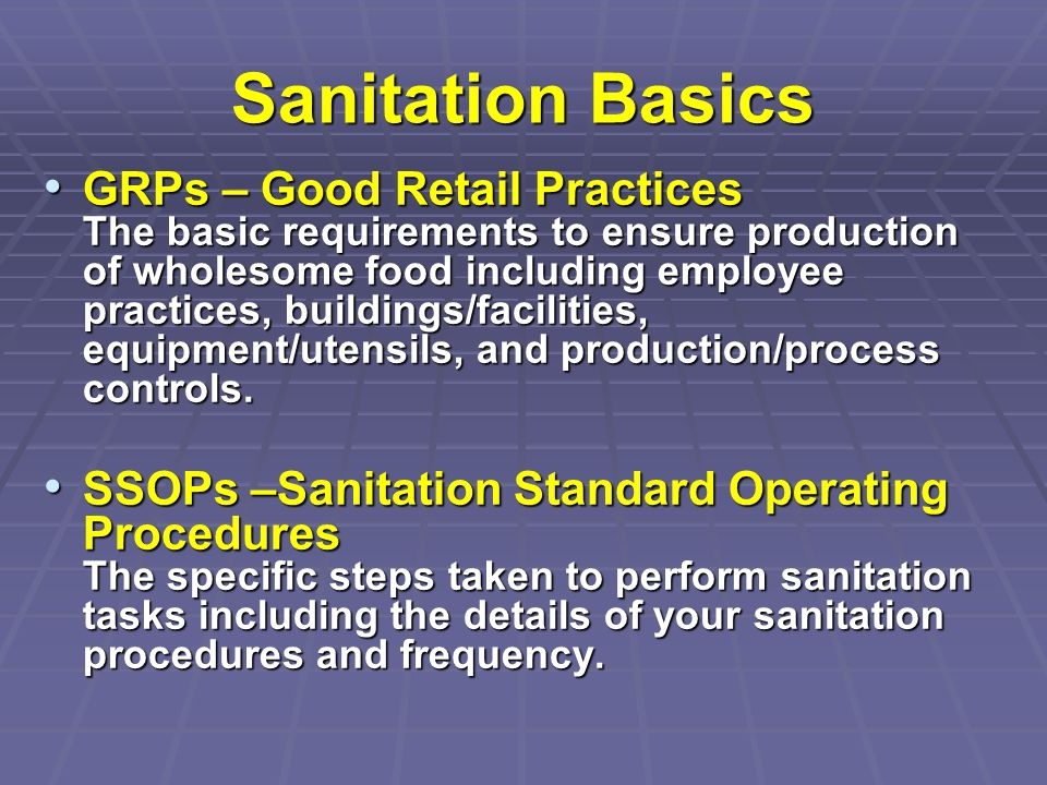 Sanitation Basics