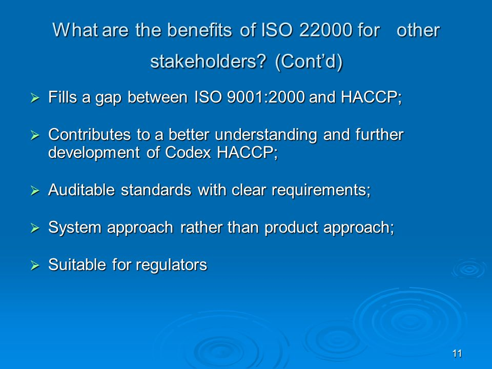 What are the benefits of ISO 22000 for other stakeholders (Cont'd)