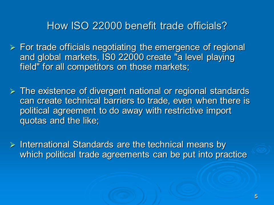 How ISO benefit trade officials