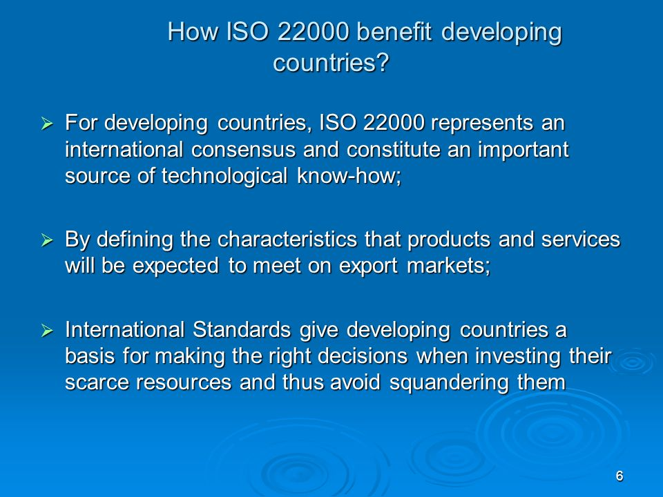 How ISO 22000 benefit developing countries