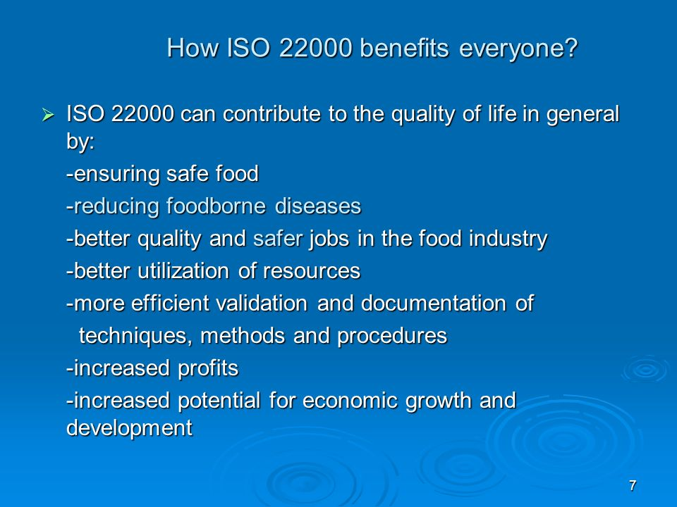 How ISO 22000 benefits everyone