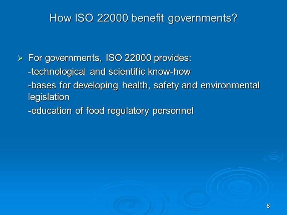 How ISO 22000 benefit governments