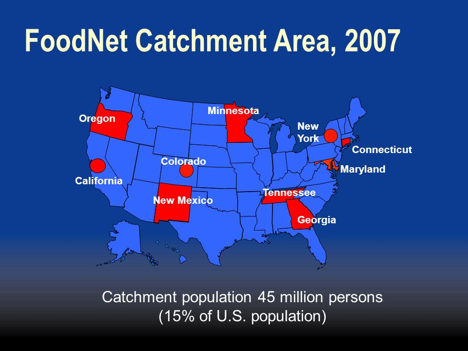 Catchment population 45 million persons