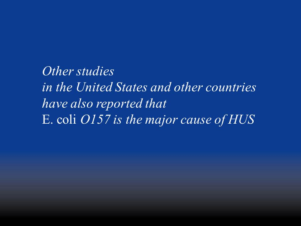 Other studies in the United States and other countries.