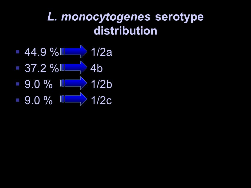 L. monocytogenes serotype distribution