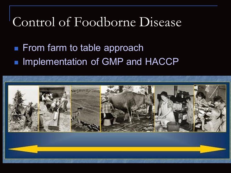 Control of Foodborne Disease