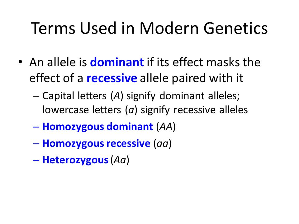 Terms Used in Modern Genetics