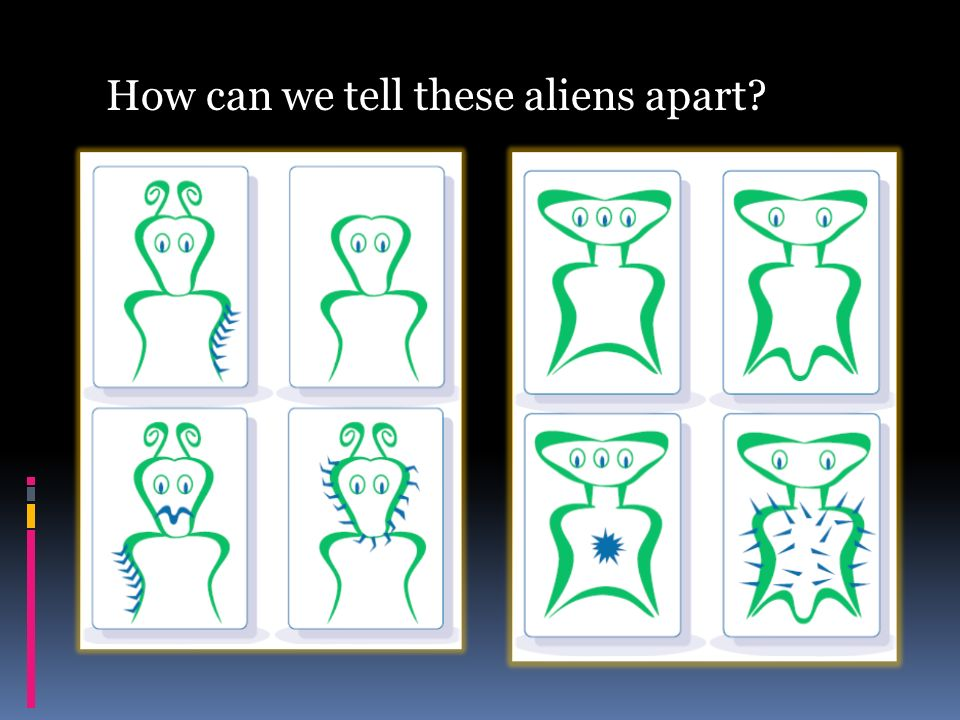 How can we tell these aliens apart