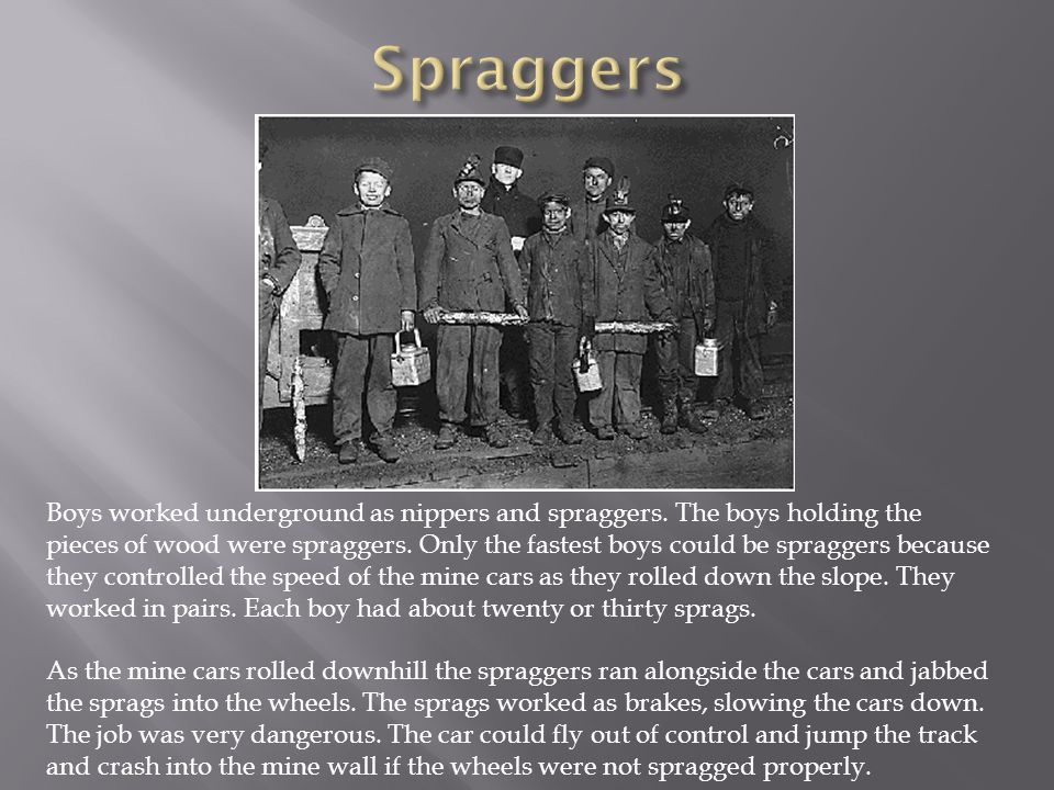 Spraggers
