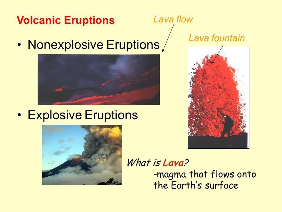Nonexplosive Eruptions