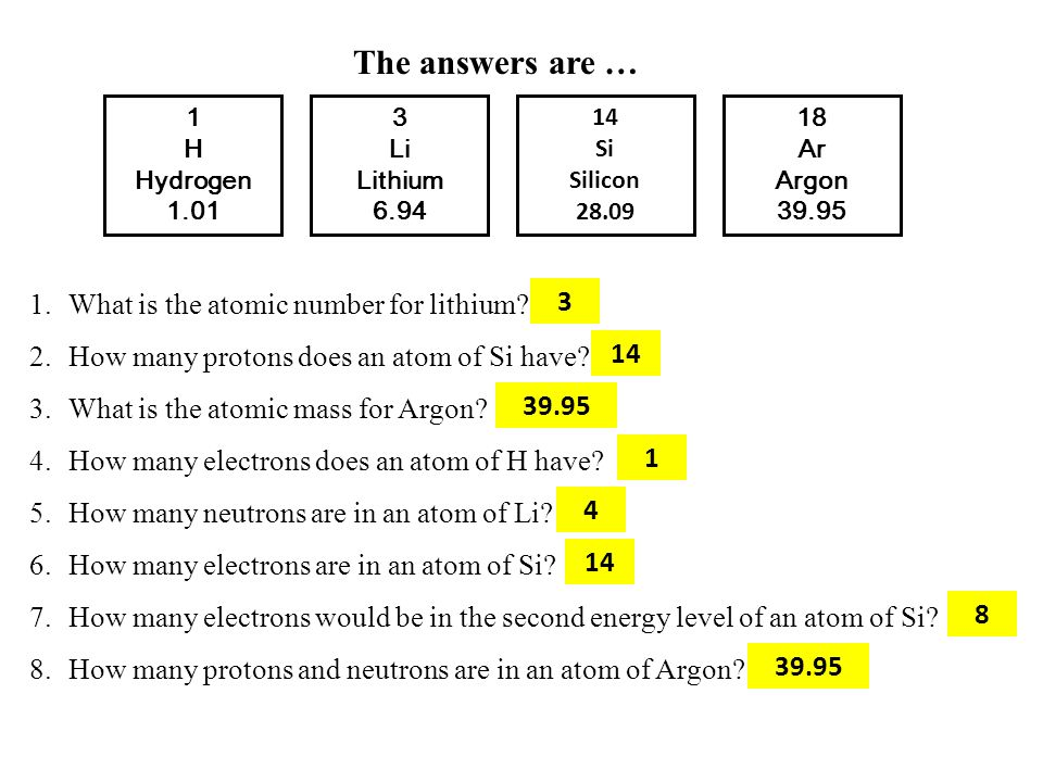 The answers are … What is the atomic number for lithium 3