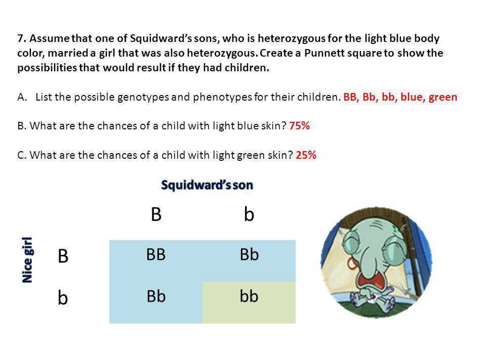 B b BB Bb bb Squidward's son Nice girl