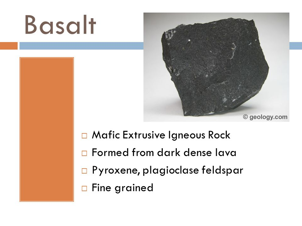 Basalt Mafic Extrusive Igneous Rock Formed from dark dense lava