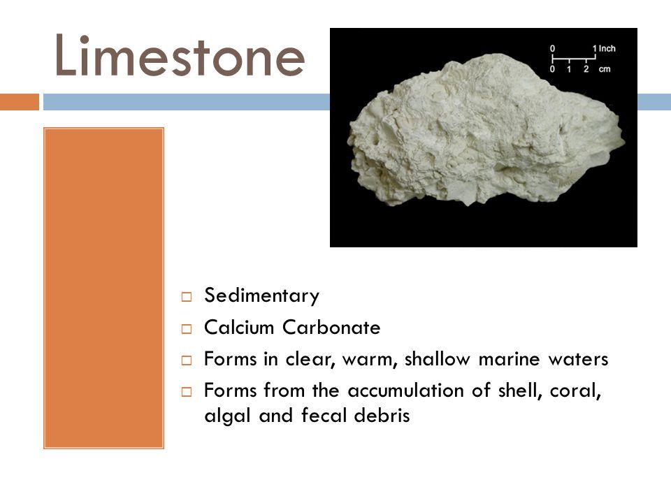 Limestone Sedimentary Calcium Carbonate