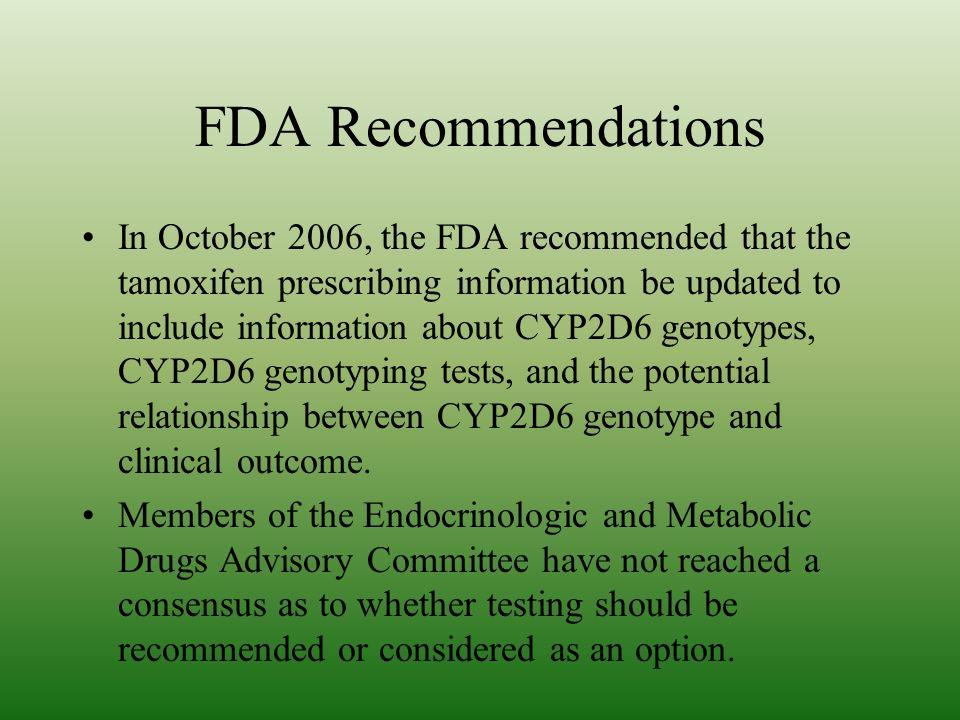 FDA Recommendations