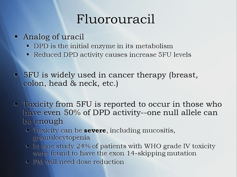 Fluorouracil Analog of uracil