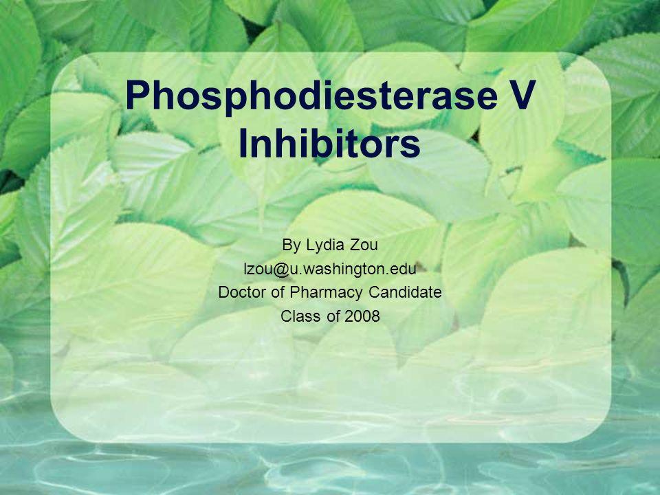 Phosphodiesterase V Inhibitors