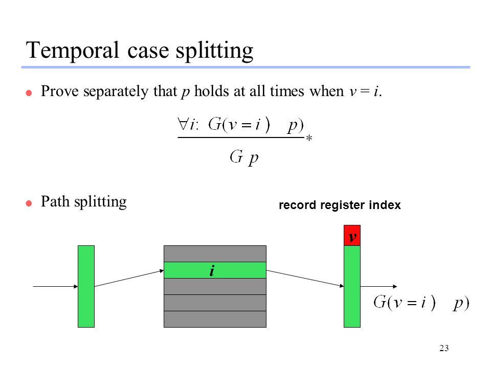 Temporal case splitting