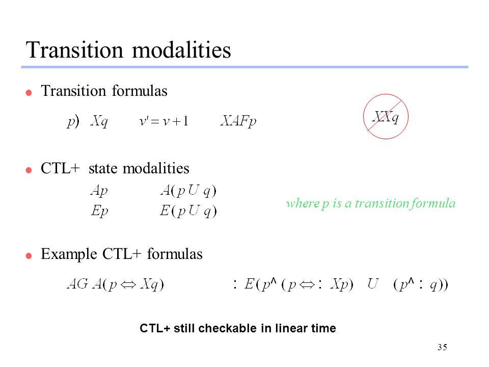 Transition modalities