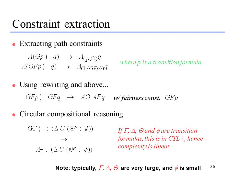 Constraint extraction