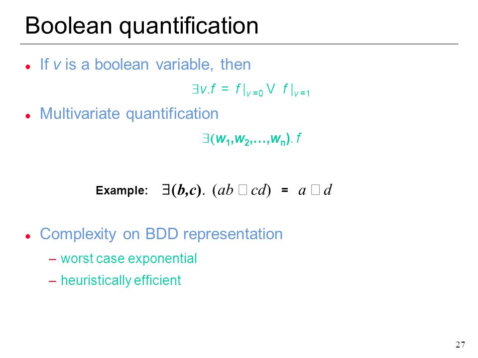 Boolean quantification