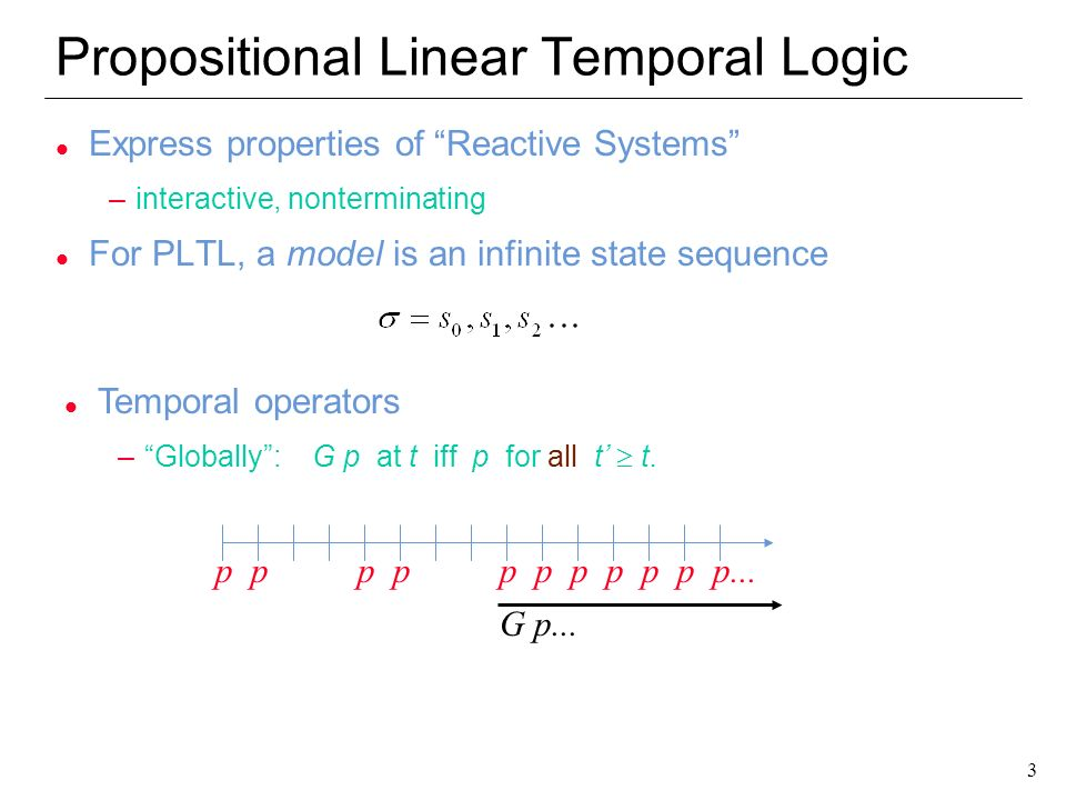 Propositional Linear Temporal Logic