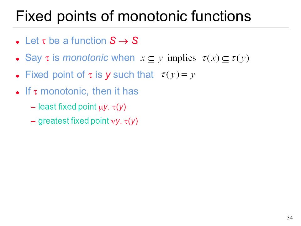 Fixed points of monotonic functions