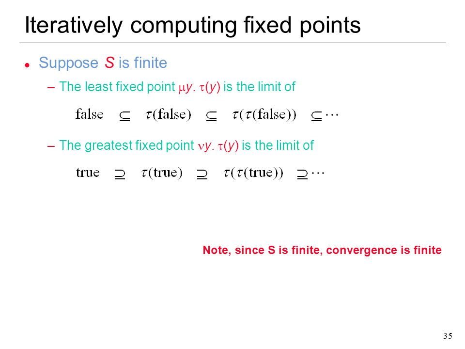 Iteratively computing fixed points