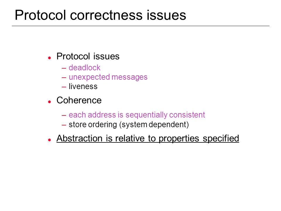 Protocol correctness issues