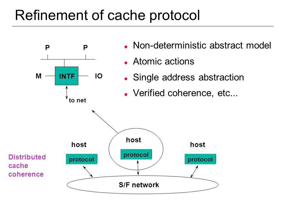 Refinement of cache protocol