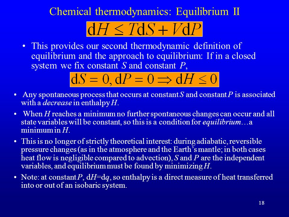 Chemical thermodynamics: Equilibrium II
