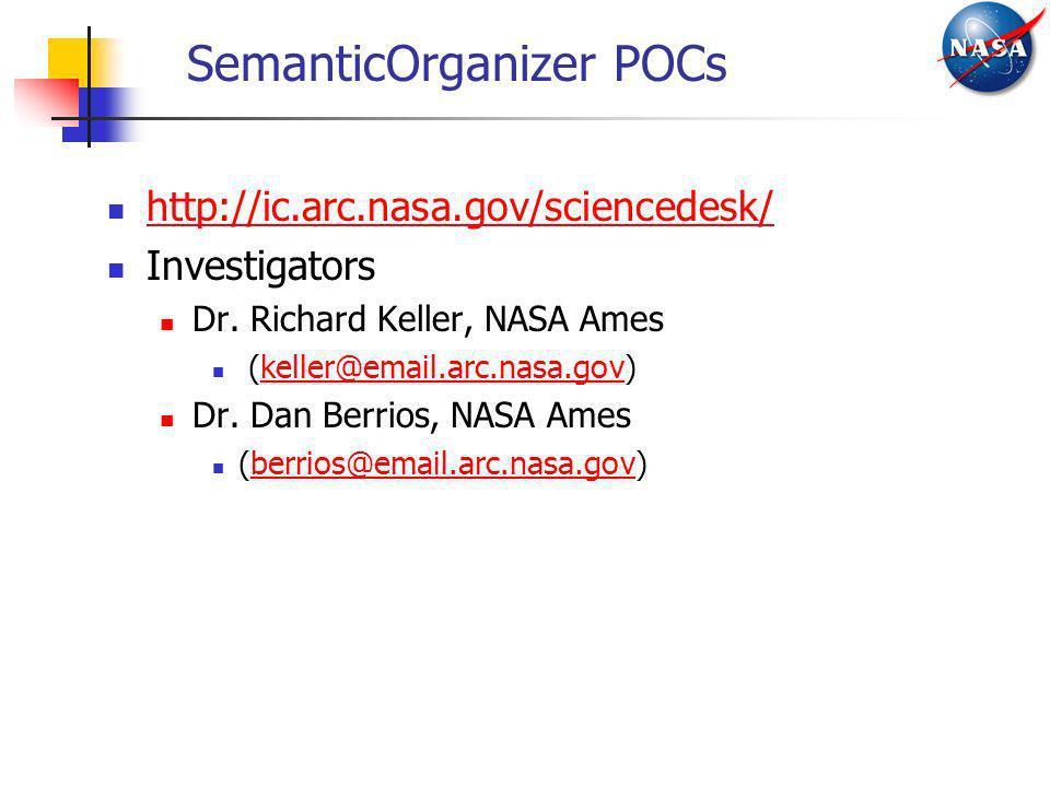 SemanticOrganizer POCs