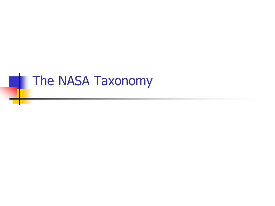 The NASA Taxonomy